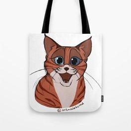 Happy Smiling Cat Tote Bag