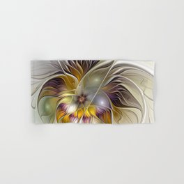 Abstract Fantasy Flower Fractal Art Hand & Bath Towel