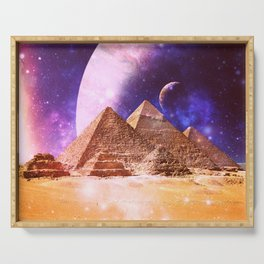 Galaxy Pyramids Serving Tray