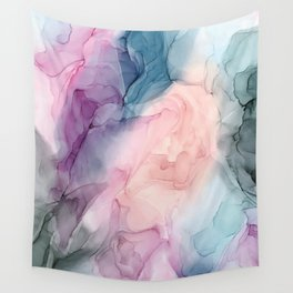 Dark and Pastel Ethereal- Original Fluid Art Painting Wall Tapestry