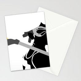 Lacrosse Girl in  Black Stationery Cards
