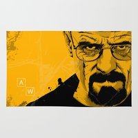 breaking bad Area & Throw Rugs featuring Breaking Bad by The Art Warriors