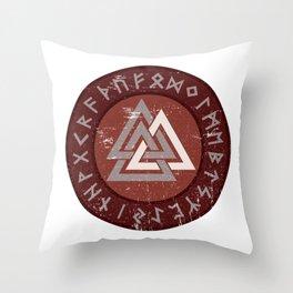 Valknut | Viking Warrior Symbol Triangle Throw Pillow