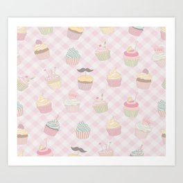 Cake Love Pattern Art Print