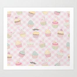 Cake Love Pattern Art Print