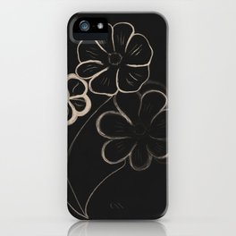 Light Sepia Flowers #1 #drawing #decor #art #society6 iPhone Case