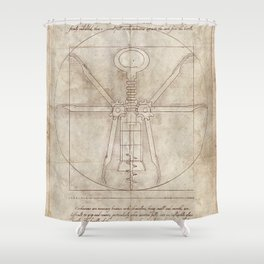 Da Vinci's Real Screw Invention Shower Curtain
