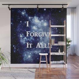 Blue Galaxy : I Forgive It All Wall Mural