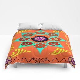 Talavera Tile Orange Comforters