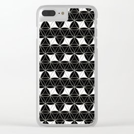 Flower of Life Pattern Rhomboids Clear iPhone Case