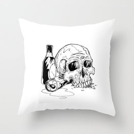 Skull Abuse  Throw Pillow