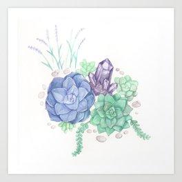 Botanical Succulents Art Print