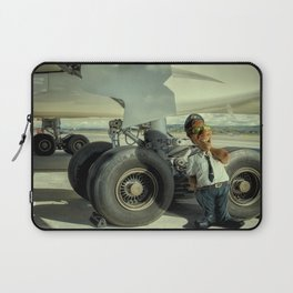 Cpt Roger Cambion, checking tires... Laptop Sleeve
