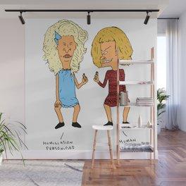 Beavis Mattel and Butthead Zamolodchikova Wall Mural