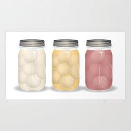 Pickled Eggs Art Print