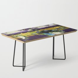 Controversy Prince Deep Purple Abstract Painting Modern Art Coffee Table