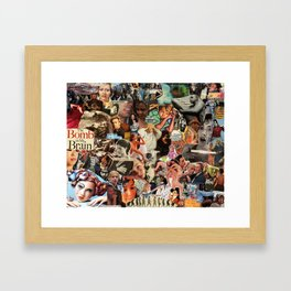 The Bomb in My Brain Framed Art Print