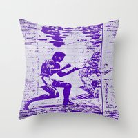 ali Throw Pillows featuring Ali  by beoriginal