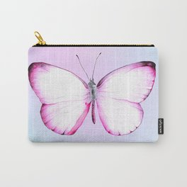 Pink Butterfly - Holographic Carry-All Pouch