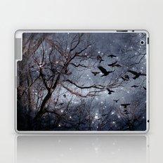 Woodland Crows And Bursting Stars Laptop & iPad Skin