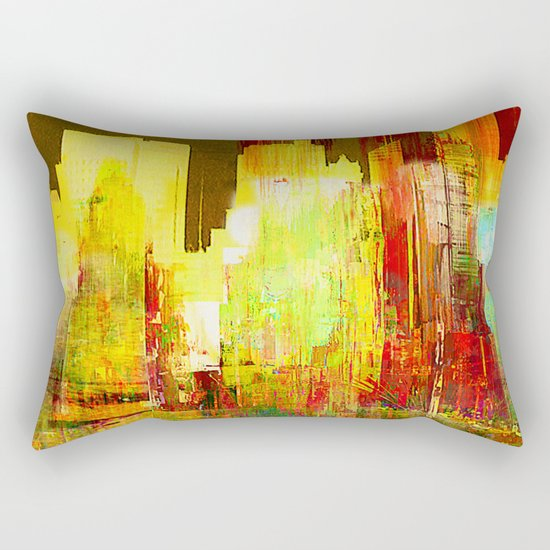 Reflection of a city Rectangular Pillow