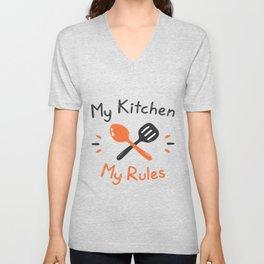 My Kitchen My Rules Unisex V-Neck