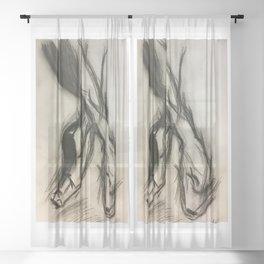 Ballet je t'aime Sheer Curtain