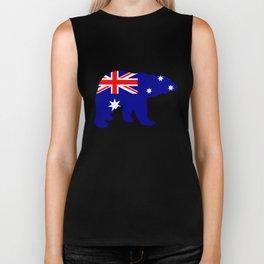 Australian Flag - Polar Bear Biker Tank