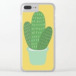 Cute Cactus Illustration Clear iPhone Case