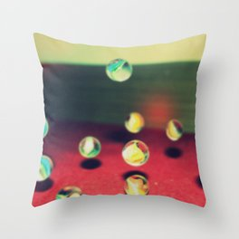 Retro Marbles Throw Pillow