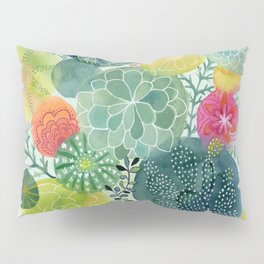 Succulent Circles Pillow Sham