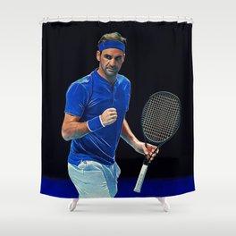 Tennis legend Roger Federer Shower Curtain
