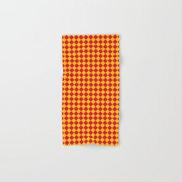 Amber Orange and Crimson Red Diamonds Hand & Bath Towel