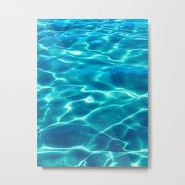 Clear Water Blue II Metal Print