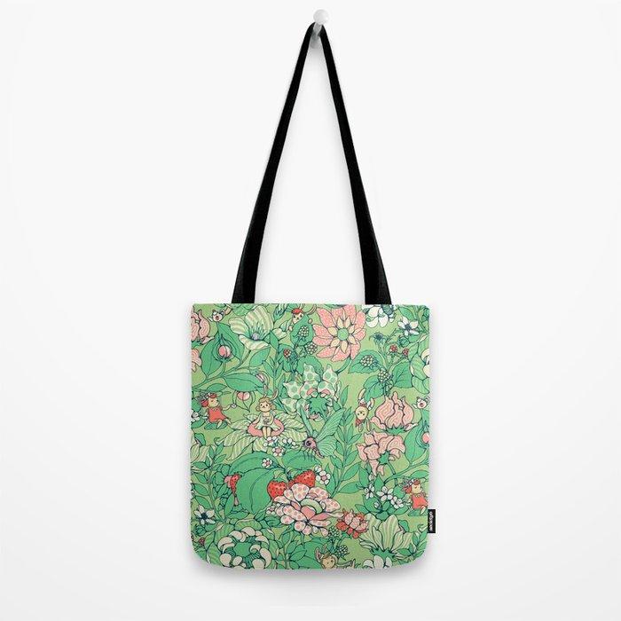 Garden party - sage tea version Tote Bag