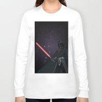darth vader Long Sleeve T-shirts featuring Darth Vader  by Rebecca Bear