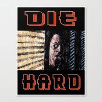 die hard Canvas Prints featuring Die Hard by AdrockHoward