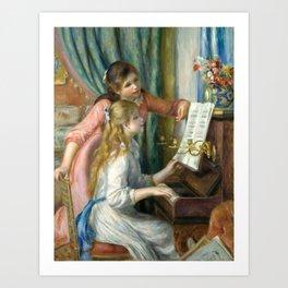 Pierre-Auguste Renoir Girls at the Piano Art Print