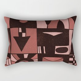 Geometric shapes #4 red Rectangular Pillow