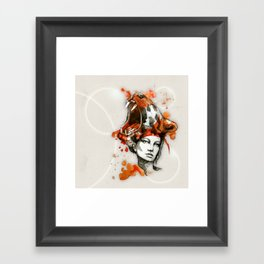 Tora by carographic, Carolyn Mielke Framed Art Print