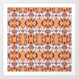 Summer Colors Pattern 2 Art Print