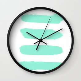 Mint stroke Wall Clock