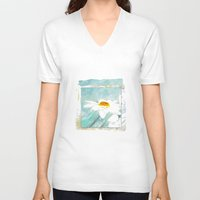 daisies V-neck T-shirts featuring Daisies by KarenHarveyCox