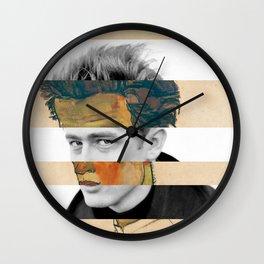 Egon Schiele's Self Portrait with Striped Shirt & James D. Wall Clock