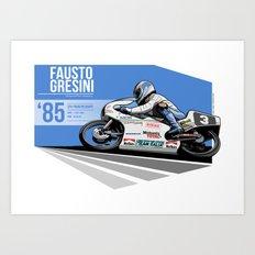 Fausto Gresini - 1985 Spa Art Print