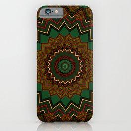 Holiday Green Mandala iPhone Case