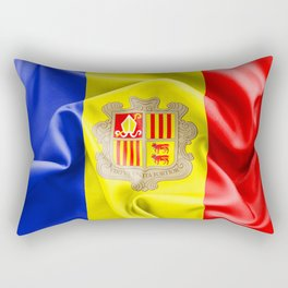 Andorra Flag Rectangular Pillow