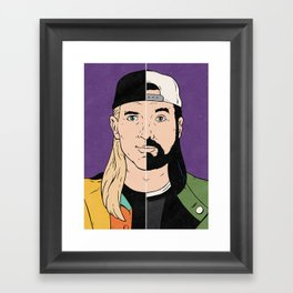 Jay & Silent Bob Framed Art Print