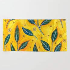connected to nature Beach Towel
