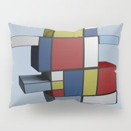 Composition with Red Blue and Yellow Pillow Sham